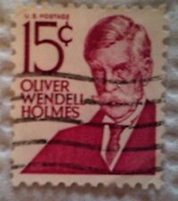 1968 Scott 1288 U. S. Oliver Wendell Holmes one used 15 cent stamp off paper