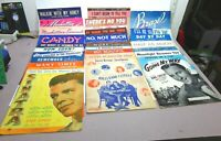 84 Vintage Sheet Music Lot Early 1900's - 1950's Songs Jazz and More See Picture