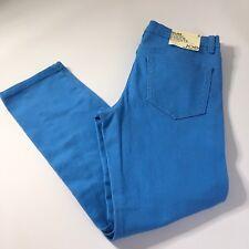 NEW Joe Fresh Women's Slim Fit Blue Cropped Pants Sz 2