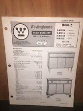 Westinghouse Service Manual for the H-M1310A,1311A,1312A Radio. Original Copy