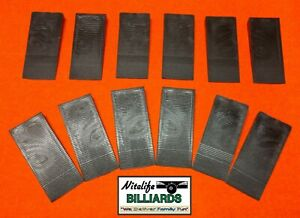 POOL TABLE ~ SLATE LEVELING  Shims ~ Wedges (12) Ribbed Grippers ~ Black Plastic