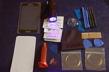 Samsung Galaxy S5 Mini Negro Pantalla de Cristal Frontal, Kit de reparación, Loca Glue, UV Antorcha