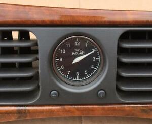 98-03 Jaguar XJ8 XJR VandenPlas Wood Center Dash Clock Vent Assembly GND7023BA