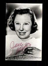 June Allyson Netters Autogrammkarte Original Signiert # BC 109482
