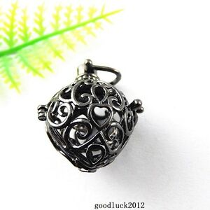 51419 Gun Black Copper Mexican Bola Bell Harmony Ball Charms Craft Findings 4pcs