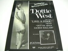 DOTTIE WEST Hope To See You At Convention RARE Preserved 1967 PROMO POSTER AD