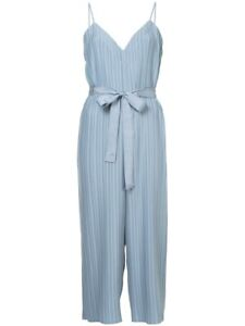 EUC Alice McCall 'Berry Good' Pleated Jumpsuit Blue Size 14