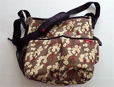 Skip Hop Baby Signature Diaper Bag Shoulder Stroller Strap Brown Cherry Blossom
