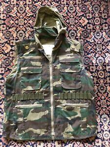 Rothco Camo Ranger Army Vest Boys Sz Large Men's S Pockets Hood