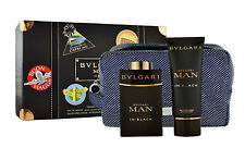 Bvlgari Man in Black 100ml Eau de Parfum & 100ml After Shave Balm & Pouch