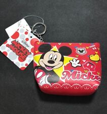 Licensed Disney Mickey Mouse Coin Purse Keyring Keychain Wallet Card Case BNWT