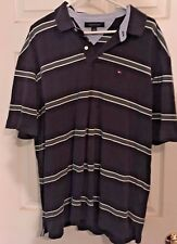 Tommy Hilfiger Men Short Sleeve Stripe Rugby Polo Shirt 2XL