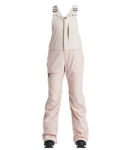 Snowboard Ski Womens Bib Pants Trousers Medium Airblaster Hot Bib Pant Blush