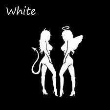 Car Sticker Devil Angel Reflective  Waterproof Beauty Windows Decals Black White
