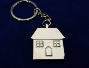 PERSONALISED HOUSE KEYRING ENGRAVED FREE NEW HOUSE GIFT FIRST HOME GIFT
