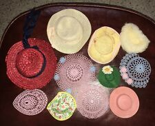 ~Lot of 11 Vintage Doll Hats