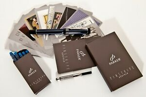 New, Parker Duofold Pinstripe Fountain Pen Special Edition