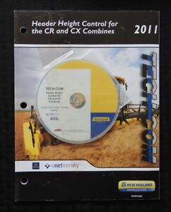 "NEW HOLLAND CR6090 CR7090 CR8080 CR8090 CR9090 COMBINE ""HEADER"" REPAIR MANUAL CD"