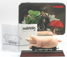 Marklin HO #30455 Good Luck Pig New in Tin Box with Display Track & Instructions