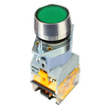 22mm Panel Mount momentary Single Pole Control Push Button Switch Green AC 240V