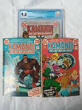 Kamandi #1 CGC 9.0 #2 #3 LOT The Last Boy On Earth DC Origin 1st Appearance