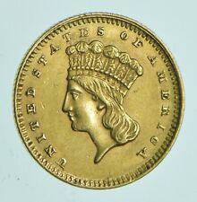 1860 $1.00 Indian Princess Head - U.S. Gold Coin *099