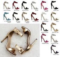 OPEN TOE Ankle Strap Single Sole Stiletto Heels #CANTER-S
