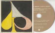 GRIZZLY BEAR A Simple Answer 2012 UK 2-track promo CD