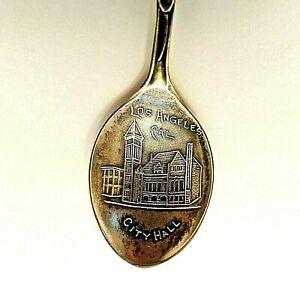 Vintage Sterling Silver Souvenir Spoon Los Angeles California Bear Joseph Mayer