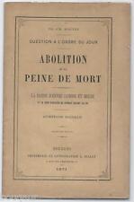 BOUTET - Abolition de la Peine de Mort. La Bande d'Entre-Sambre-et-Meuse 1871 EO