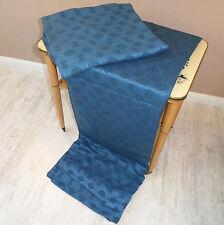XX Vintage: 2 Schals Gardinen Vorhänge 70er Jahre blau 1,5m x1,5m