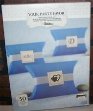 Wilton Blue Pillowbox Party Favor Boxes 50 count Kit Weddings, Birthday Anytime!