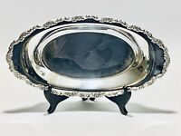 Fabulous Vintage Victorian Style Oneida Silver Plate Bread Serving Tray