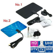 Digital Indoor TV Digital Antenne HDTV DTV Box Ready HD VHF UHF FM Flat Design