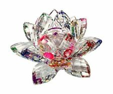 Amlong Crystal 3 Inch Sparkle Lotus Flower Feng Shui Home 5-inch