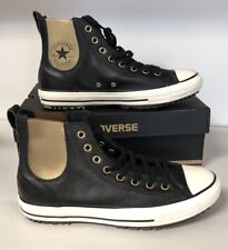 Converse Chuck Taylor All Star Leather High Tops Fur Lined Sneakers Size  10.5 fa871afdd