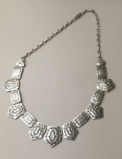 Vintage NAVAJO RUDY WILLIE STERLING SILVER Necklace Handmade 18""