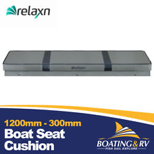 1200 x 300mm Relaxn Grey Boat Cushion | Upholstered Vinyl Tinnie Boat Bench Seat