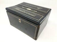 Boite Coffret à Courrier Anglaise Incrustation os XIX eme  Antique Mail Box bone