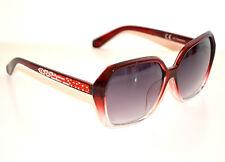 OCCHIALI da SOLE ROSSI donna lenti aste strass brillantini Sun glasses G5