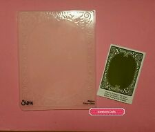 Sizzix HOLIDAY FRAME flowers Christmas oval texture embossing folder NEW (160)