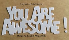 • • • Die Cuts ~ 'YOU ARE AWESOME'  x8 ~ Stampin Up C/S ~ Cards, Scrapbooking