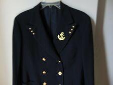 U.S. Coast Guard Auxiliary Officer Navy Blue Blazer Uniform Lt. Commander Sz 40