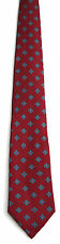Men's New Silk Neck Tie, Red with Green Purple dots by Hathaway