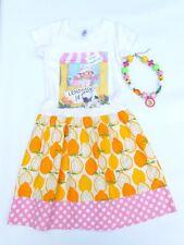 Custom Cotton Laundry sz 6 Lemonade Stand Lemons T-Shirt Dress & Necklace Set