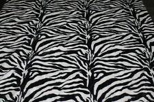 Tessuto Cavallino Eco Pelliccia ZEBRA Zebrato Bianco Nero 50x140cm