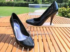 *MONSOON* Ladies Black Patent Leather POINTED TOE COURT SHOES uk6 BNIB rrp£89