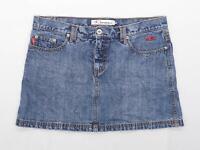 O Neill Womens Size M Denim Blue Skirt (Regular)