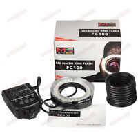 Meike FC-100 LED Macro Ring Flash Light For Canon Nikon Olympus Fujifilm US !