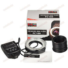 Meike FC-100 LED Macro Ring Flash Light with 7 Adapters Ring for DSLR Camera
